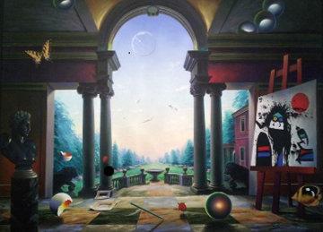 Untitled Villa 2004 59x78 Huge Original Painting - (Fernando de Jesus Oliviera) Ferjo