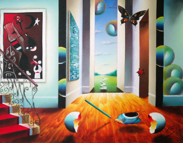 Untitled Interior 1996 24x30 Original Painting - (Fernando de Jesus Oliviera) Ferjo