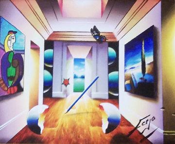 Fluttering to Paradise 19x23 Original Painting by (Fernando de Jesus Oliviera) Ferjo