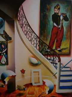 Interior With Manet 29x23 Original Painting - (Fernando de Jesus Oliviera) Ferjo