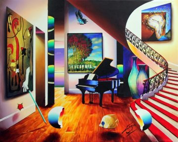 Nature's Melody 38x46 Super Huge Original Painting - (Fernando de Jesus Oliviera) Ferjo