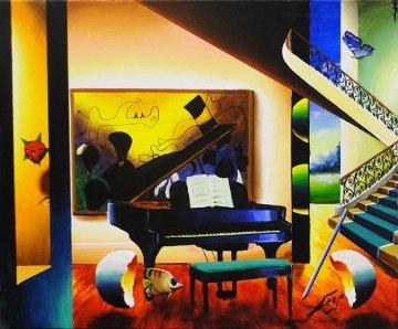Grand Piano 24x30 Original Painting by (Fernando de Jesus Oliviera) Ferjo