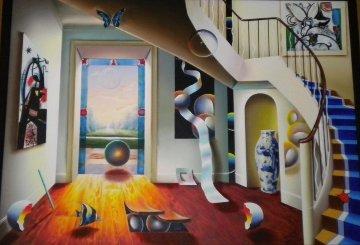 Untitled Painting 63x82 Huge Original Painting - (Fernando de Jesus Oliviera) Ferjo
