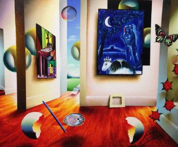 Blue Night 29x34 Original Painting by (Fernando de Jesus Oliviera) Ferjo
