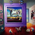 Untitled Homage to Dali  43x43 Original Painting - (Fernando de Jesus Oliviera) Ferjo