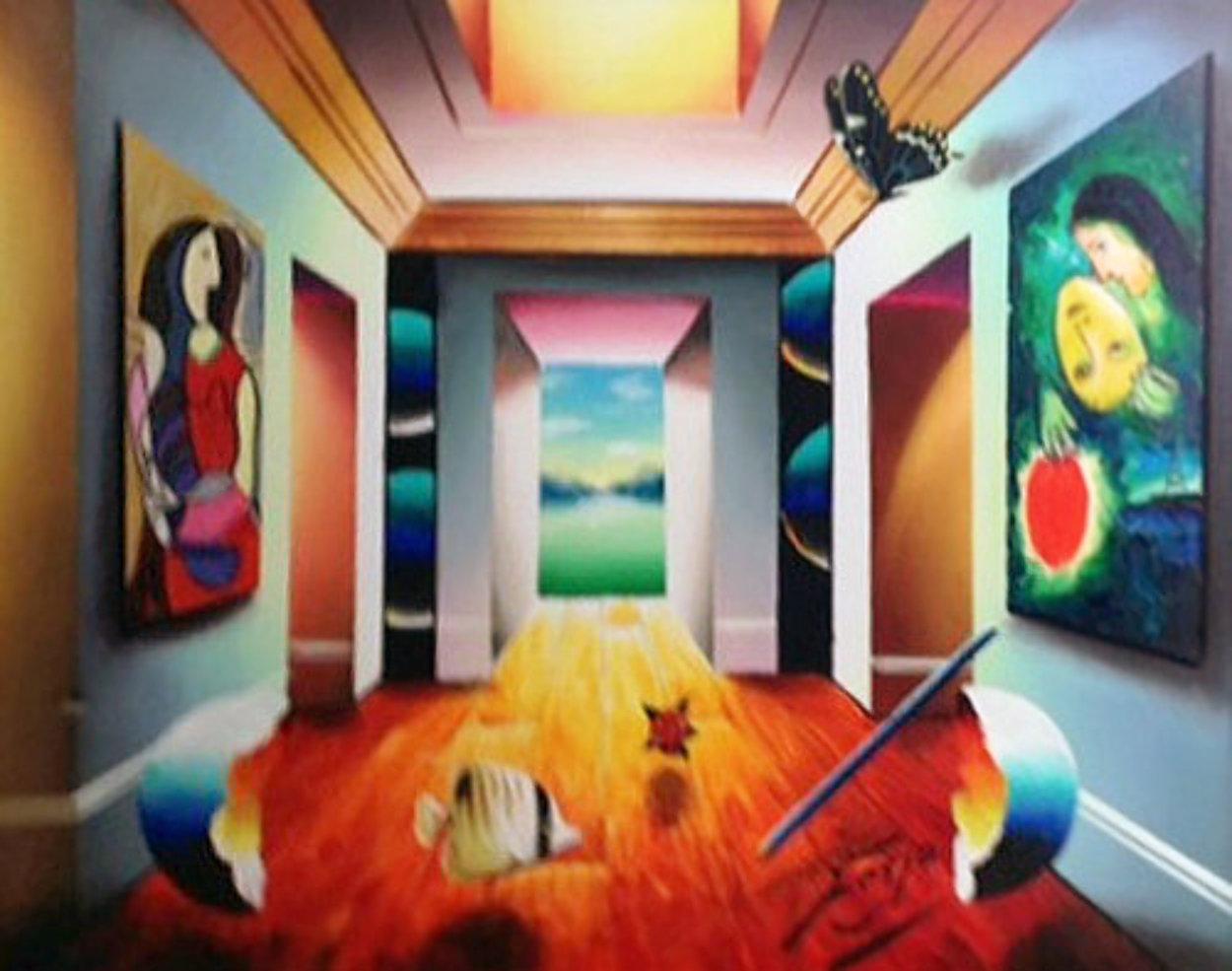An Upside Down Perspective 2012 27x33 Original Painting by (Fernando de Jesus Oliviera) Ferjo