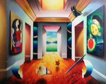 An Upside Down Perspective 2012 27x33 Original Painting - (Fernando de Jesus Oliviera) Ferjo