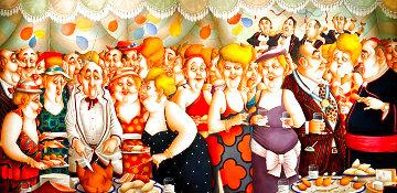 Cocktail Party 1995 57x105 Huge Original Painting - Carlos Ferreyra