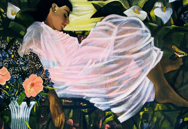 Sleeping With My Finch 1986 Limited Edition Print by Sonya Fe