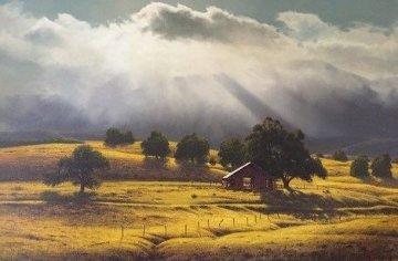 Awakening 1975 45x33 Original Painting - James Fetherolf