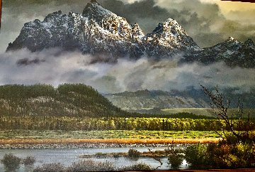 Grand Tetons 24x36 Original Painting - James Fetherolf
