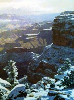Near Hopi Point 1980 30x25 Original Painting - James Fetherolf
