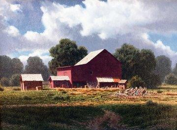 Summer Showers 15x13 Original Painting - James Fetherolf