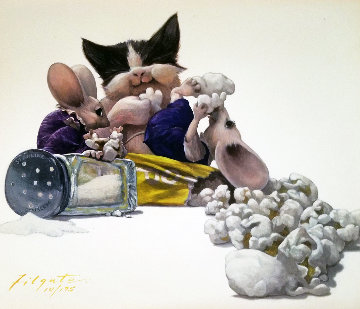 Snack Time 1999 Limited Edition Print - Leonard Filgate