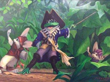 Let's Go 2000 23x32 Original Painting - Leonard Filgate
