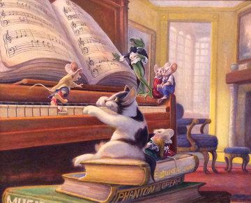 Harmony I 1997 21x35 Original Painting - Leonard Filgate