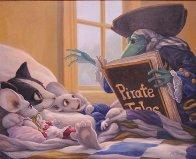 Pirate Tales 1998 24x30 Original Painting by Leonard Filgate - 1