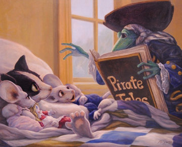 Pirate Tales 1998 24x30 Original Painting - Leonard Filgate