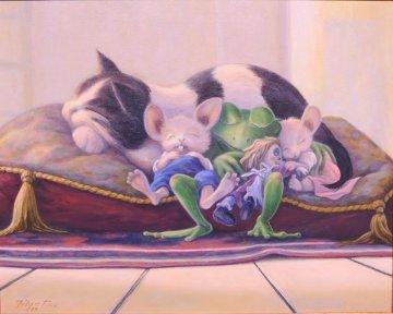 Sweet Dreams 1997 34x40 Original Painting - Leonard Filgate