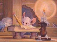 Writer 1997 18x24 Original Painting by Leonard Filgate - 1