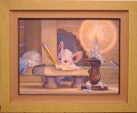 Writer 1997 18x24 Original Painting by Leonard Filgate - 2