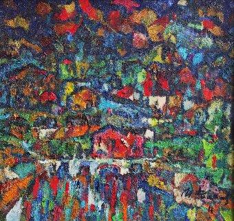 Town White Bridge 2011 19x20 Original Painting by Ivan Filichev