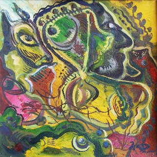 Thoughts 1990 19x19 Original Painting by Ivan Filichev