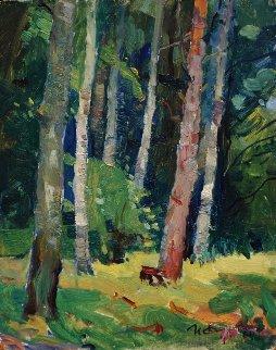 Forest 1964 13x11 Original Painting by Ivan Filichev