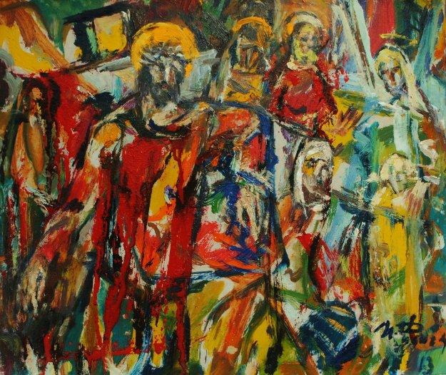 Jesus 2013 9x11 Original Painting by Ivan Filichev