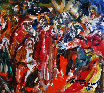 Healing of the Blind 2013 Original Painting by Ivan Filichev