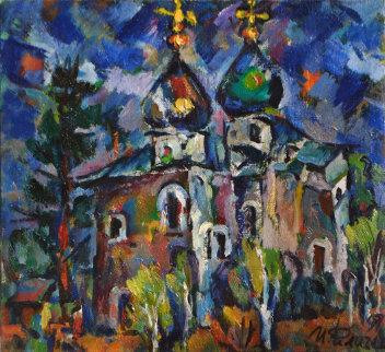 Church 1997 19x20 Original Painting by Ivan Filichev