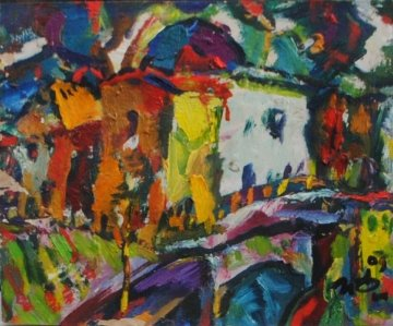 Cathedral By the Humpbacked Bridge 2009 9x11 Original Painting by Ivan Filichev