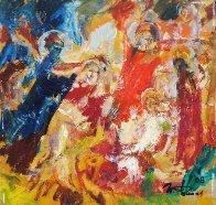 Christ And Angels 2008 15x16 Original Painting by Ivan Filichev - 1