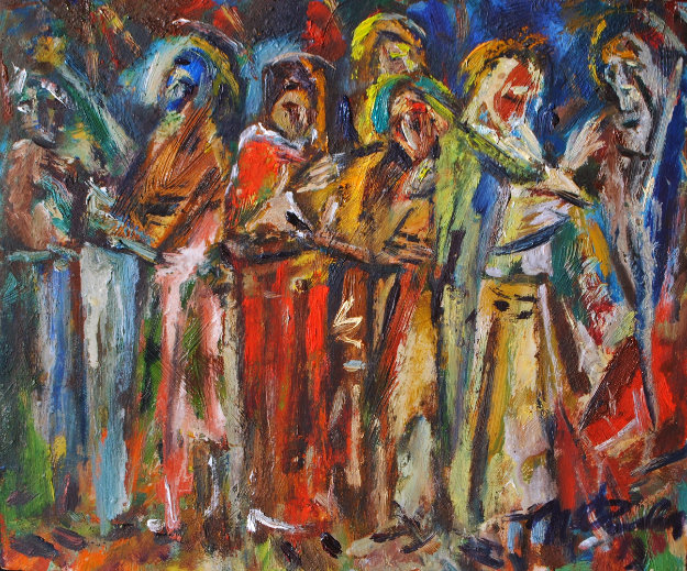 Liturgy 2013 9x11 Original Painting by Ivan Filichev