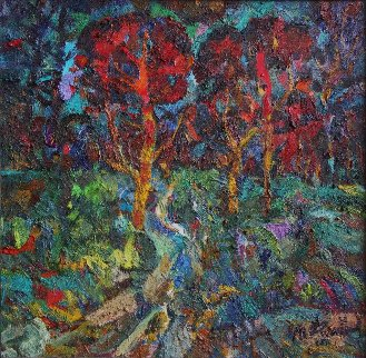 Such an Evening! 2011 54x53 Original Painting - Ivan Filichev