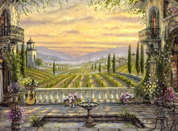 A Tuscan View 2008 Limited Edition Print by Robert Finale