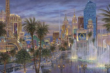Evening in Vegas 2011   Embellished  Limited Edition Print by Robert Finale