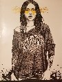 Coney Island Girl the King of New   York  Unique 2016 29x22  Original Painting -  Fin Dac