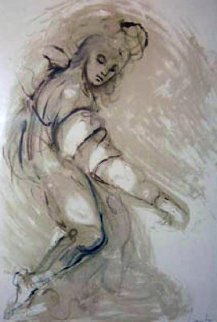 Nameless Woman 1960 40x31  Original Painting - Leonor Fini