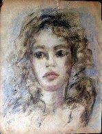Woman Portrait 18x12 Works on Paper (not prints) by Leonor Fini - 1