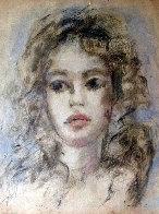 Woman Portrait 18x12 Works on Paper (not prints) by Leonor Fini - 0