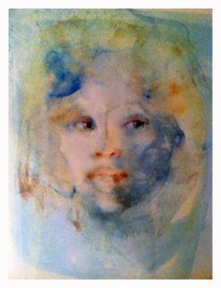 Visage Blue 1986 Limited Edition Print - Leonor Fini