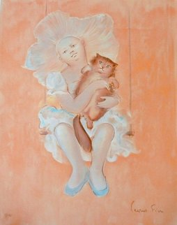 Petite Fille et Chat Limited Edition Print by Leonor Fini