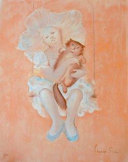 Petite Fille et Chat Limited Edition Print - Leonor Fini