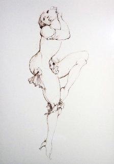 l'Anemone Fanee 1986 Limited Edition Print - Leonor Fini