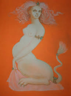 Sphinx: Ilaria Limited Edition Print - Leonor Fini