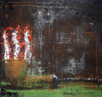 Pipe 1986 22x28 Original Painting - Aaron Fink