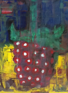 Red Raspberry 1992 39x32 Watercolor by Aaron Fink