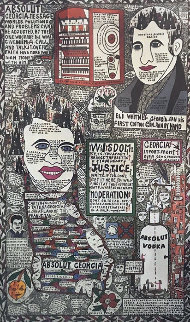 Absolut Georgia 1993 Limited Edition Print by Howard Finster
