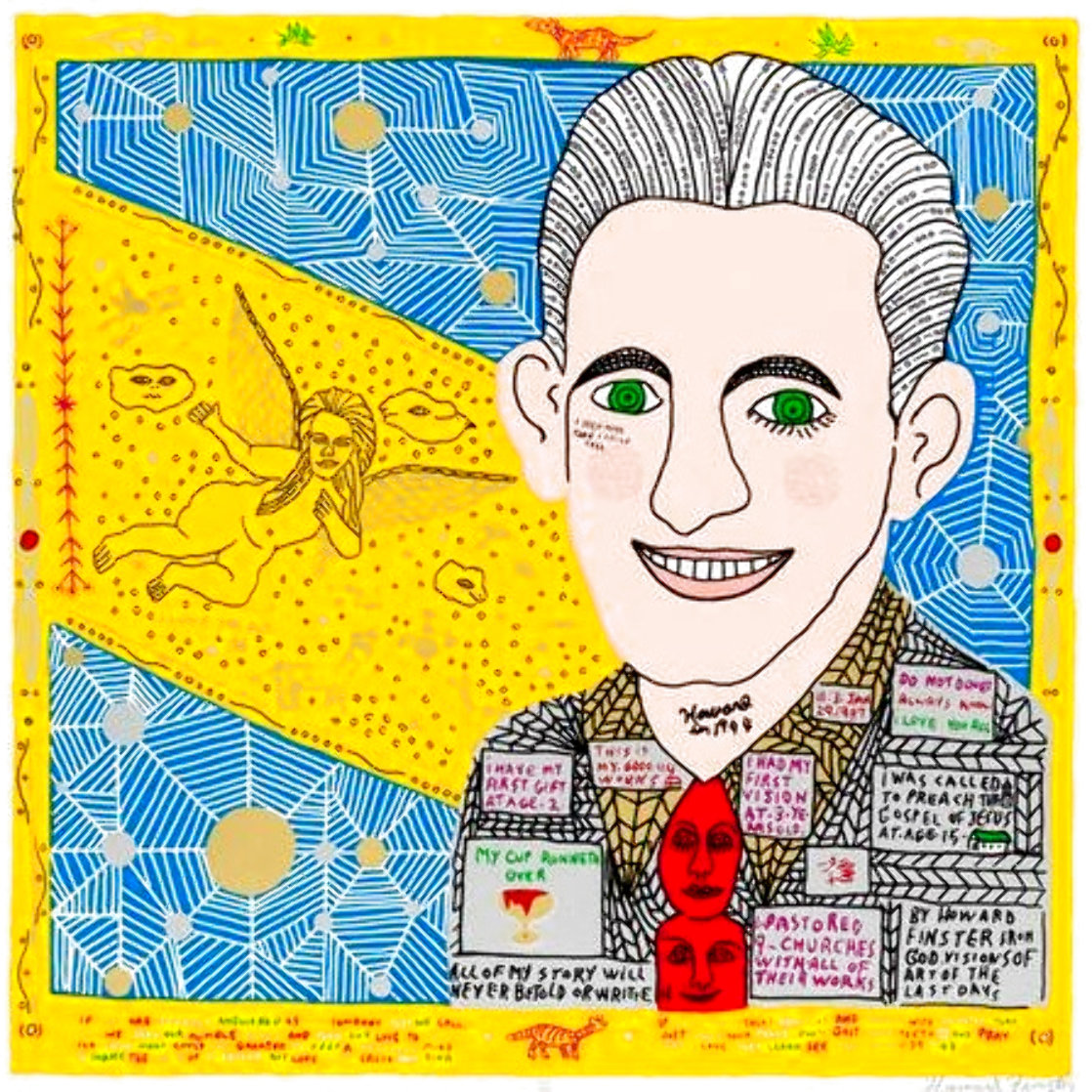 1944 Limited Edition Print by Howard Finster